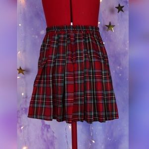 Dresses & Skirts - Authentic Japanese red plaid school girl skirt